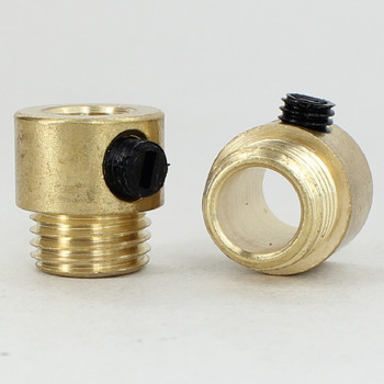 1/4ips. Male Threaded Strain Relief with Nylon Set Screw - Unfinished Brass
