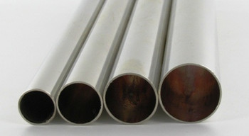 1/2in. Smooth Round Nickel Plated Finish Tubing - 36in. Covers 1/8ips. Pipe; 7/16in Inner Dimension
