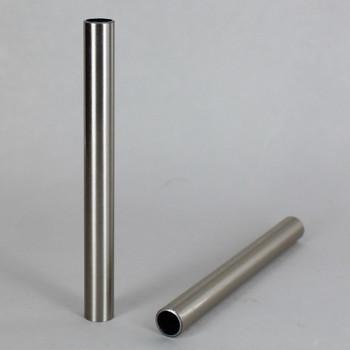 1/2in. Smooth Round Satin/Brushed Nickel Finish Tubing - 36in.