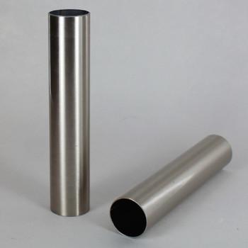 1in Diameter Brushed/Satin Nickel Finish Steel Tubing - 36in Long