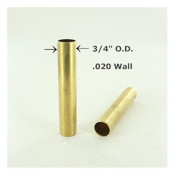 3/4in Smooth Unfinished Brass Tubing
