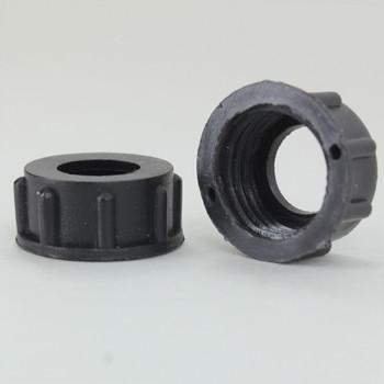 1/4ips. Female Threaded Plastic Insulating Bushing - Black