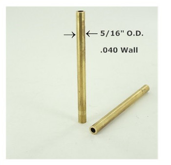 5/16in. Smooth Soft Unfinished Brass Tubing