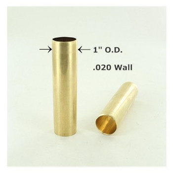 1in. Smooth Unfinished Brass Tubing