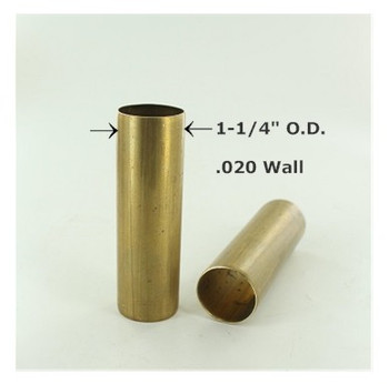 1-1/4in. Smooth Unfinished Brass Tubing