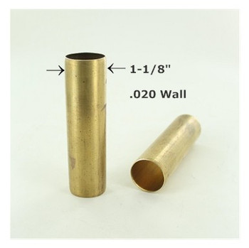 1-1/8in. Smooth Unfinished Brass Tubing