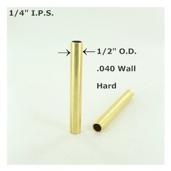 1/4ips. Smooth Hard Unfinished Brass Tubing