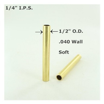 1/4ips. Smooth Soft Unfinished Brass Tubing