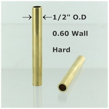 1/2 inch OD X 0.062 Plain Tubing for 1/8ips Female Threads
