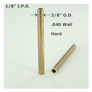 1/8ips. Smooth Hard Unfinished Brass Tubing