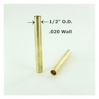 1/2in. Smooth Hard Unfinished Brass Cover Tubing for 1/8ips. Pipe