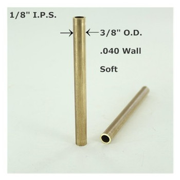 3/8in Outer Diameter X 72in Long Smooth Soft Unfinished Brass Tubing.