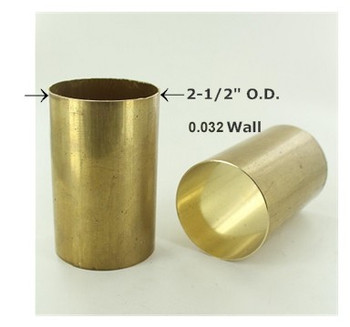 2-1/2in. Smooth Hard Unfinished Brass Tubing