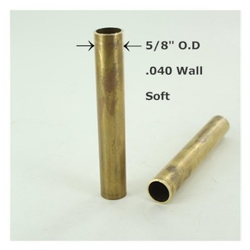 3/8ips. Smooth Soft Unfinished Brass Tubing