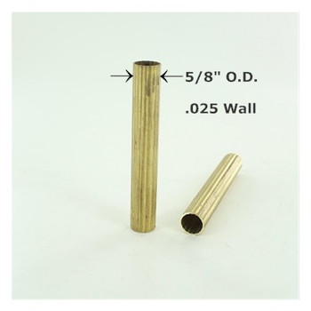5/8in. Reeded Unfinished Brass Tubing