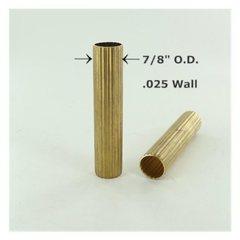 7/8in. Reeded Unfinished Brass Tubing