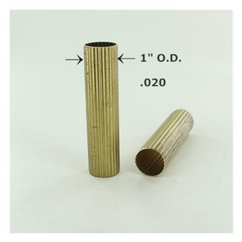 1in. Reeded Unfinished Brass Tubing