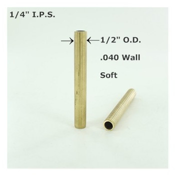 1/4ips. Reeded Soft Unfinished Brass Tubing