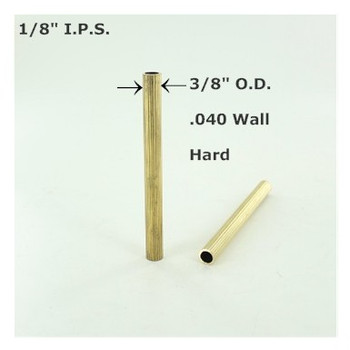 1/8ips. Reeded Hard Unfinished Brass Tubing