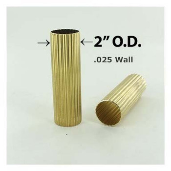 2in. Reeded Hard Unfinished Brass Tubing