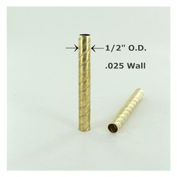 1/2in Roped Unfinished Brass Tubing