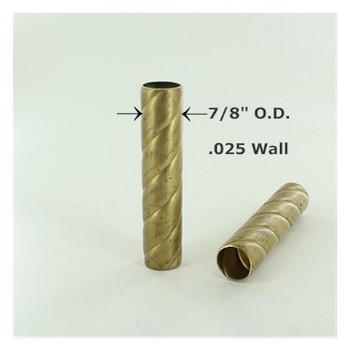 7/8in. Roped Unfinished Brass Tubing
