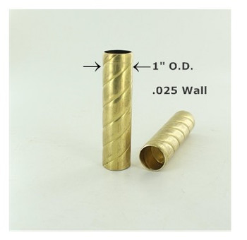 1in. Roped Unfinished Brass Tubing