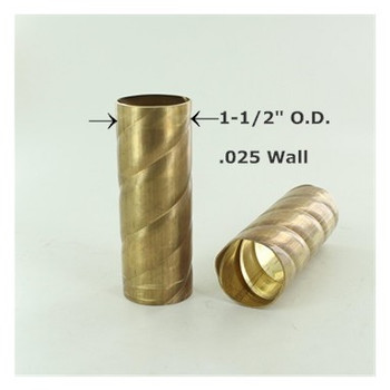1-1/2in. Roped Unfinished Brass Tubing