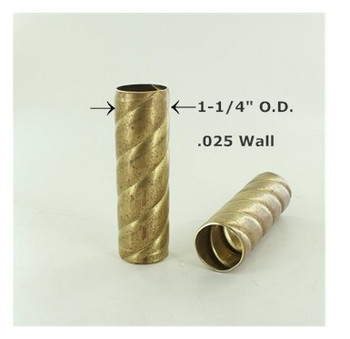 1-1/4in. Roped Unfinished Brass Tubing