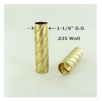 1-1/8in. Roped Unfinished Brass Tubing