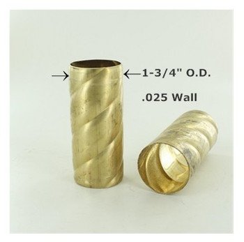 1-3/4in. Roped Unfinished Brass Tubing