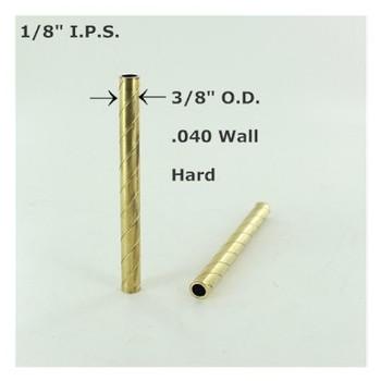1/8ips. Roped Hard Unfinished Brass Tubing