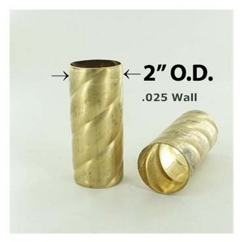 2in. Roped Hard Unfinished Brass Tubing
