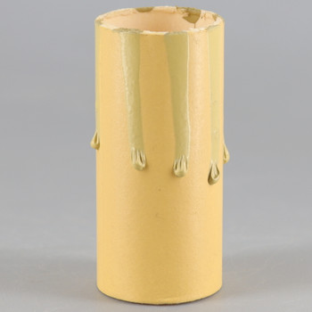 2in. Long Paper/Fiber E-12 Candelabra Base Candle Socket Cover - Antique Drip.