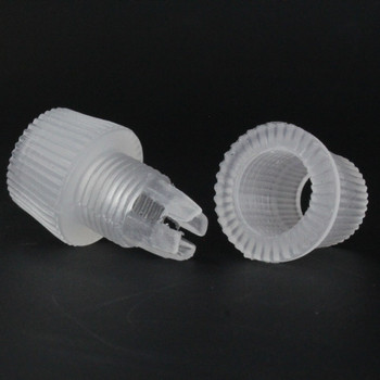 1/8ips Female Threaded CLEAR TWO PIECE PLASTIC STRAIN RELIEF FOR SVT WIRE