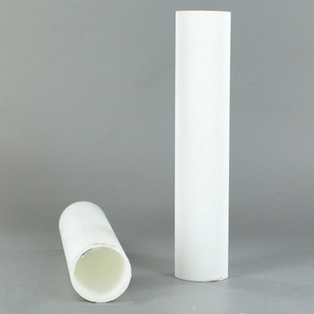 1in.O.D. x 36 in. Long Hard Plastic Candle Tubing - White