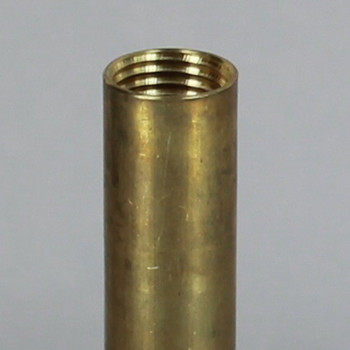 13in. Long 1/4ips (9/16in. O.D) Unfinished Brass Round Hollow Pipe with 1/4ips Female thread on both ends.