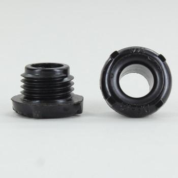 1/4ips. Male Threaded Plastic Insulating Bushing - Black