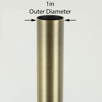 36in Long X 1in Diameter Antique Brass Finish Steel Tubing
