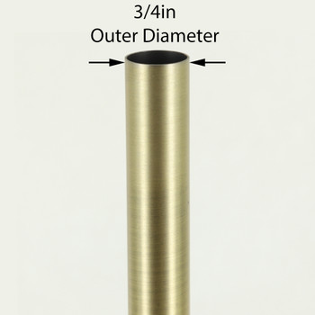 36in Long X 3/4in Diameter Antique Brass Finish Steel Tubing
