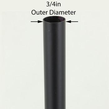 36in Long X 3/4in Diameter Black Powdercoated Steel Tubing