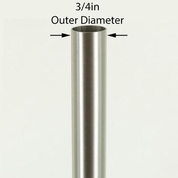 36in Long X 3/4in Diameter Brushed/ Satin Nickel Steel Tubing
