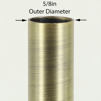 36in Long X 5/8in Diameter Antique Brass Finish Steel Tubing