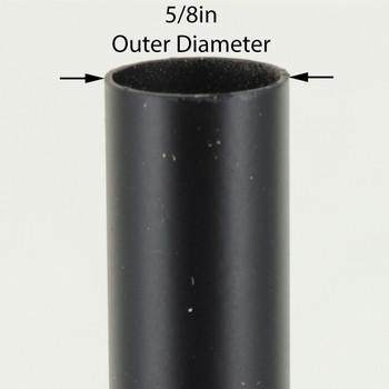 36in Long X 5/8in Diameter Black Powdercoated Steel Tubing