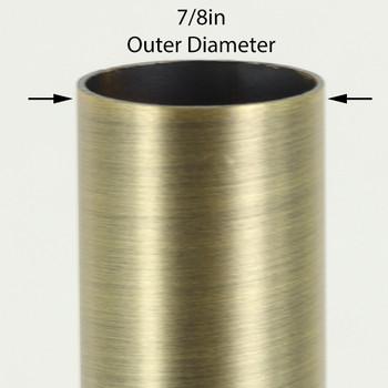 36in Long X 7/8in Diameter Antique Brass Finish Steel Tubing