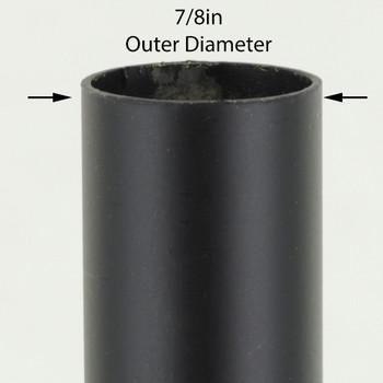 36in Long X 7/8in Diameter Black Powdercoated Steel Tubing