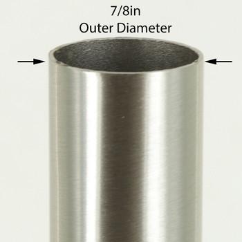 36in Long X 7/8in Diameter Brushed/ Satin Nickel Steel Tubing