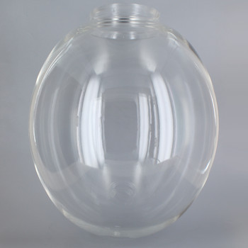 12in Diameter X 4in Fitter Egg Shaped Acrylic Ball - Clear.