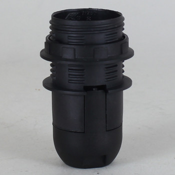E-14 Black Threaded Skirt with Shoulder Shade Stop Rest and 1/8ips Threaded Cap.