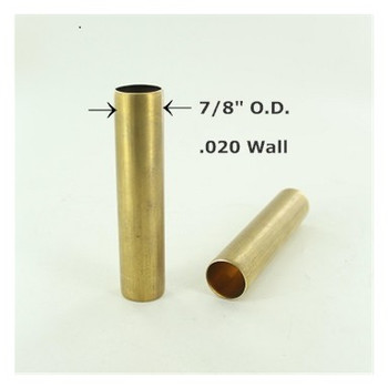 7/8in. Smooth Unfinished Brass Tubing